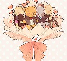 bearlock bouquet by butterbear