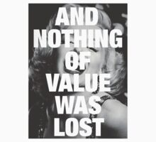 Marilyn Monroe - Nothing of value was lost by Vizier