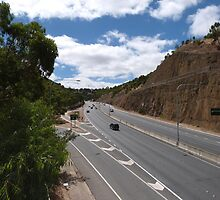 Part Way up the Freeway, through Adelaide Hills. S. A. by Rita Blom