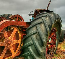 Boulmer Tractor by English Landscape Prints