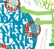 Prince Katamari Textography Sticker