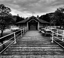 Glenridding Pier by English Landscape Prints