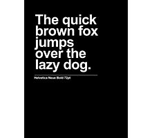 Quick Brown Fox Photographic Print