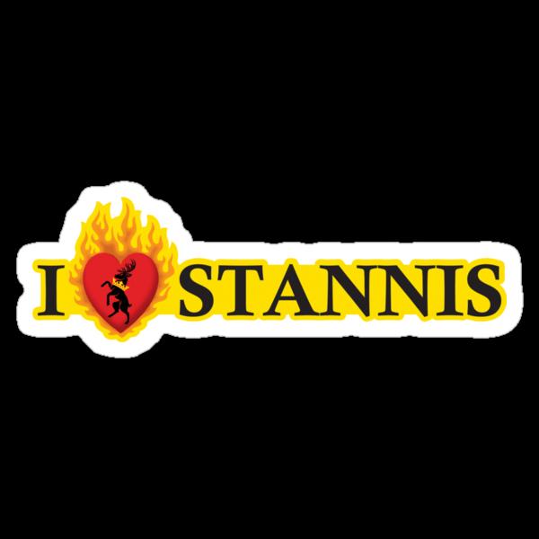 I Heart Stannis Sticker by Digital Phoenix Design