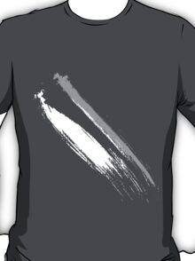 Black and White Brush Stroke  T-Shirt