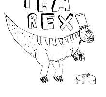 Tea Rex (black) by MichaelAshMash
