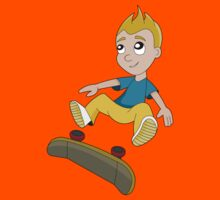 Skateboarder boy cartoon by Radka Kavalcova