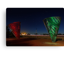 Water Dance Sculptures Western Australia  Canvas Print