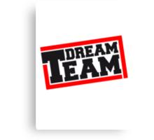 Text logo design friends couple couples dream team Canvas Print