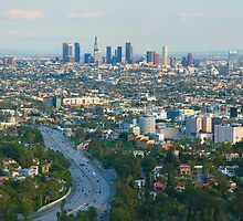 Los Angeles Skyline and Los Angeles Basin Panorama by Ram Vasudev