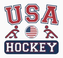 Team USA Sochi Olympics Hockey T-Shirt by xdurango