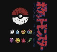 Cracked Pokeball and Badges Kanto version with Logo by ChronoStar