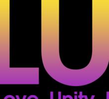 PLUR (Peace. Love. Unity. Respect.) Sticker