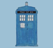 Watercolour Police Call Box. by MisterDalek AndCo