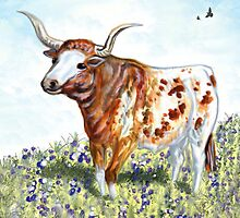 Texas Longhorn by WildestArt