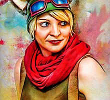 Steampunk D20 Girl by Samuel Vega