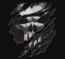 Frank castle Torn Tee tshirt by ThreeSecond DesignandArt