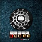 Classic Vintage Dial Phone with emergency Button by Johnny Sunardi