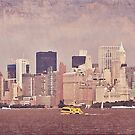 Manhattan from Liberty by Melinda  Ison - Poor