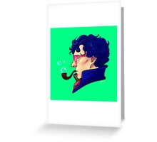 Party Sherlock [blue] Greeting Card