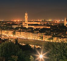 View over Florence by Henk Meijer