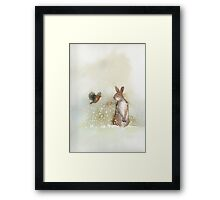 Hare and Robin Framed Print
