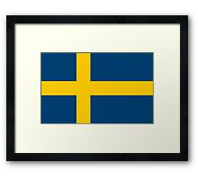 Flag of Sweden Framed Print
