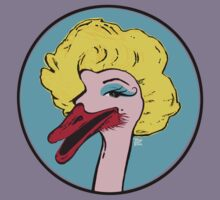 Ostrich Pop Art - Monrostrich T-shirt by TsipiLevin