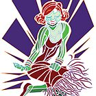 Flapper (purple background) by Brian Belanger