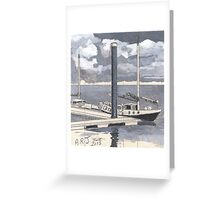 Boats at Burnham-on-Sea Greeting Card