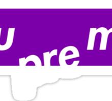Sue Me - Supreme Purple Sticker