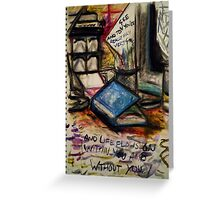 ...and Life Flows On Within You and Without You Greeting Card