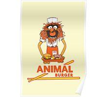 Animal Burger Poster