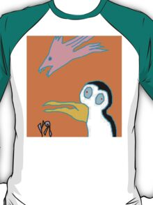 """Scary Bird-Fish and Penguin"" by Richard F. Yates T-Shirt"