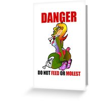 Danger Gator Greeting Card