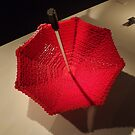 Lego Umbrella, Art of the Brick Exhibition, Nathan Sawaya, Artist, Discovery Times Square, New York City  by lenspiro