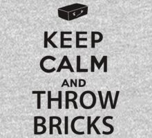 Keep Calm And Throw Bricks - The Last of Us (Black Font) by Cody Ayers