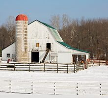 Snowy Barnyard by Kenneth Keifer