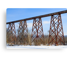 The Tulip Train Trestle Canvas Print