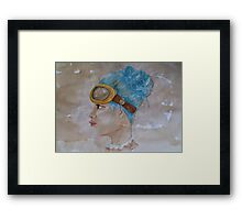 Tea Stained Steampunk Framed Print