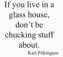 Karl Pilkington Glass Houses Quote by bewareofaurora