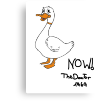 Duck Now Canvas Print