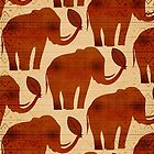 Elephant Tribal Art Design by BluedarkArt