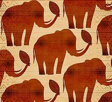 Elephant Tribal Art Design by BluedarkArt