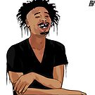 Danny Brown Drip Illustration - Original Print - BenmcArts by Ben McCarthy