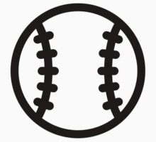 Black Baseball ball by Designzz