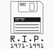 R.I.P. 1971-1991 Floppy Disk by BrightDesign