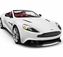 2014 Aston Martin Vanquish Volante luxury car art photo print by ArtNudePhotos