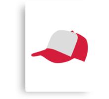Red baseball cap hat Canvas Print