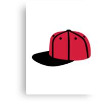 Red black Baseball Cap Hat Canvas Print